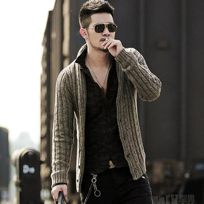 Men's sweater cardigan long sleeve cardigan sweater jacket