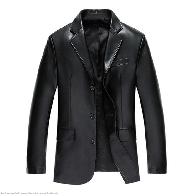 Leather Jacket Men PU Jacket Male Business Casual Coats Autumn Casual Masculinas Inverno Couro Jacket Overcoat