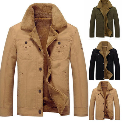 Mens Jackets Casual Coats Solid Color Mens Jackets  Stand Collar Slim Suede Lamb Sportswear Bomber Jackets