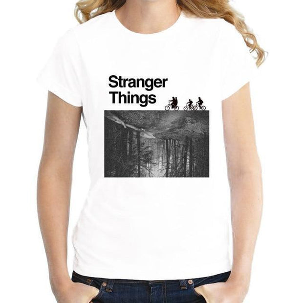 Corachic.com - Stranger Things Design Print women's T-shirts Short Sleeve Tops Tee