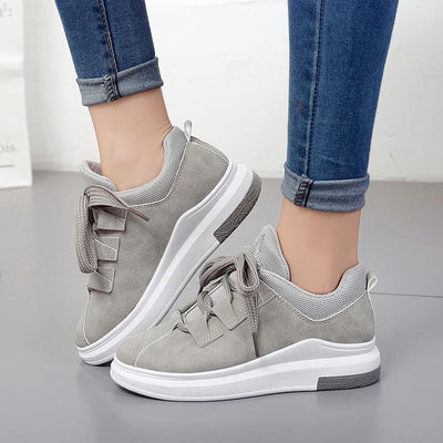 Corachic.com - Women Platform Lace Up Breathable Casual Flats Shoes - Women's Flats