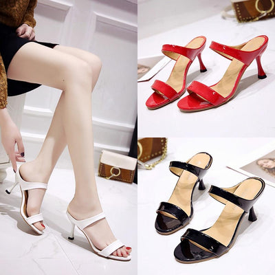 High Heels Women Open Toe Sandals Thin Heel Fish Mouth Slippers Sandal Shoes