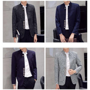 Men Autumn Chinese style Casual Suits Large Size Male Spring Fashion Suits Coat