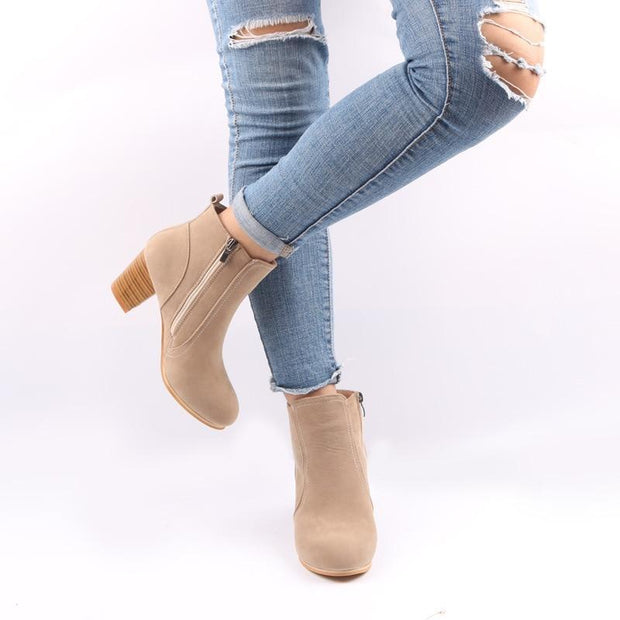 Women Boots Solid Martin boots Suede Leather ankle boots