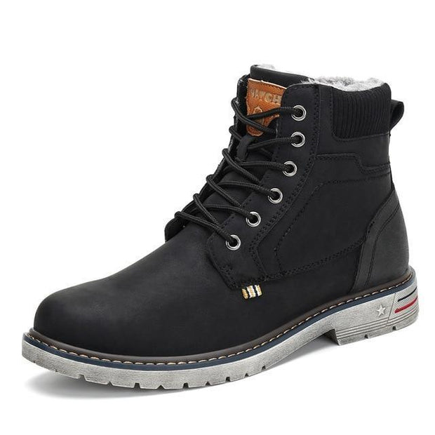 Men Military Boots Outdoor Warm Ankle Flat Anti-skid Safety Snow Boots