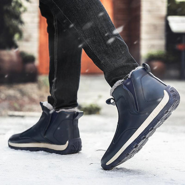 Men New Big Size Safety Shoes Plush Warm Winter Men Anti-skidding Boots Men's Winter Snow Boots