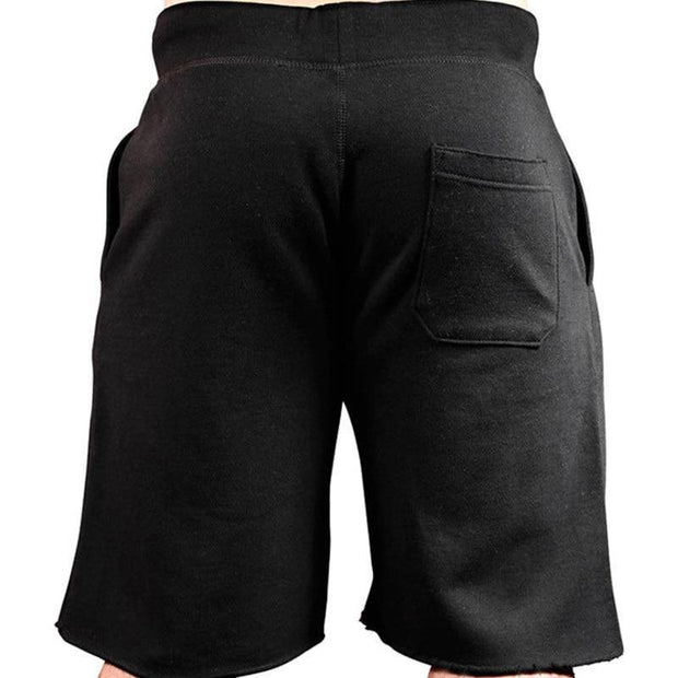 Men's Casual Cotton Jogger Shorts Large Size Beach Vacation Shorts
