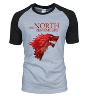 The North Remembers 100% Cotton Men's Raglan T-shirts Tee Tops Tees