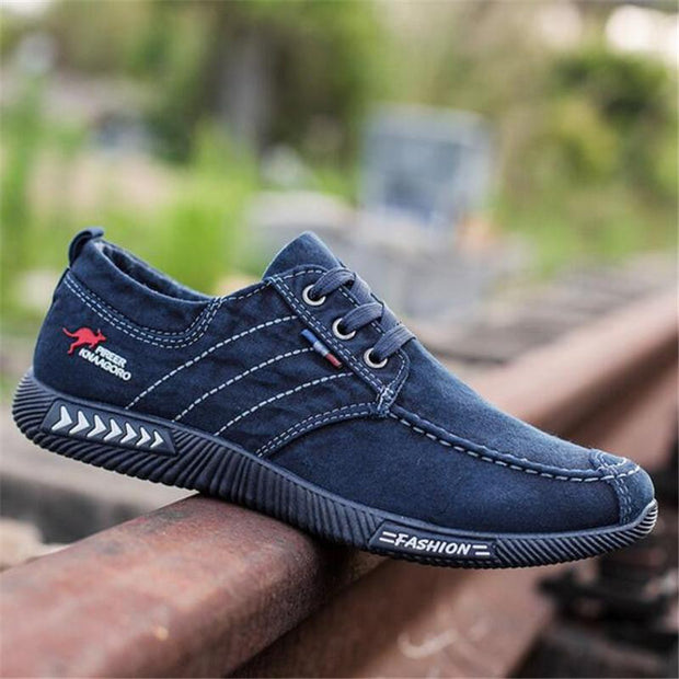 Men New Canvas Shoes Deodorant Breathable Men's Shoes Tide Shoes Non-slip Male Students Tie Casual Stripes Men Shoes
