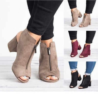 Women Plus Size High-heel Shoes Fashion Sexy Casual Fish Mouth Wedge Sandals