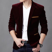 Mens Blazer British's Style Casual Slim Fit Suit Jacket Male Blazers Men Coat Jacket For Men