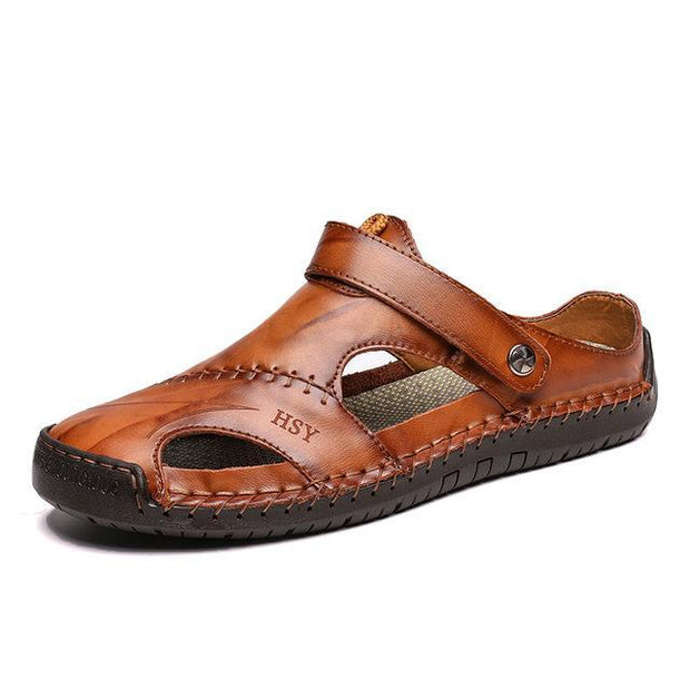Men's Leather Roman Sandals Slippers Outdoor Sneaker Beach Rubber Flip Flops Sandals