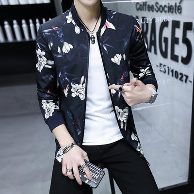 Men's Fashion Casual Jacket Thin Section Breathable Cardigan Jacket  Large Size Coat