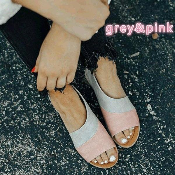 Women's Summer Causal Sandals Peep Toe Low Heels Sandals Shoes