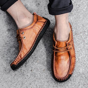 Men Comfortable Casual Genuine Leather Flats Loafers Shoes