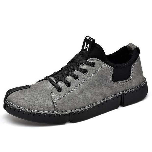 Men leather Casual Big Size Flats  Shoes