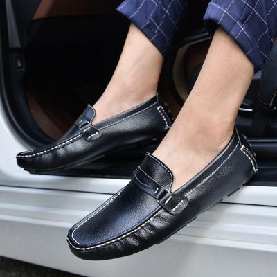 Comfortable Casual Shoes Loafers Men Shoe Quality Split Leather Shoes Men Flats Moccasins Driver Walking shoes