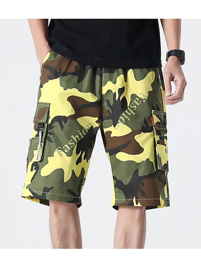 Men's Basic Daily Holiday Shorts Tactical Cargo Pants - Camouflage Drawstring Breathable White Blue Orange XS / US32 / UK32 / EU40 / S / US34 / UK34 / EU42 / M / US36 / UK36 / EU44