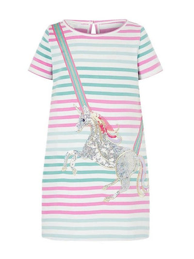 Kids Girls' Cartoon Dress Rainbow