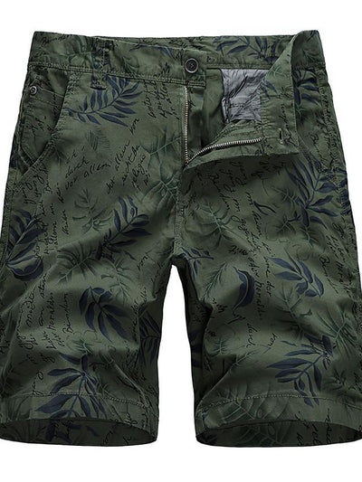 Men's Basic Daily Holiday Chinos Shorts Pants - Plants Print Breathable Black Army Green Khaki S / US34 / UK34 / EU42 / M / US36 / UK36 / EU44 / XL / US40 / UK40 / EU48