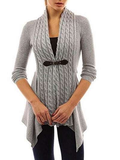 Women's Solid Colored Cardigan Long Sleeve Sweater Cardigans V Neck Black Purple Blushing Pink