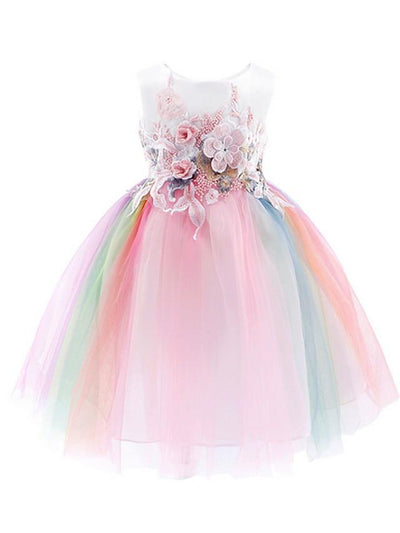 Kids Girls' Rainbow Dress Blushing Pink