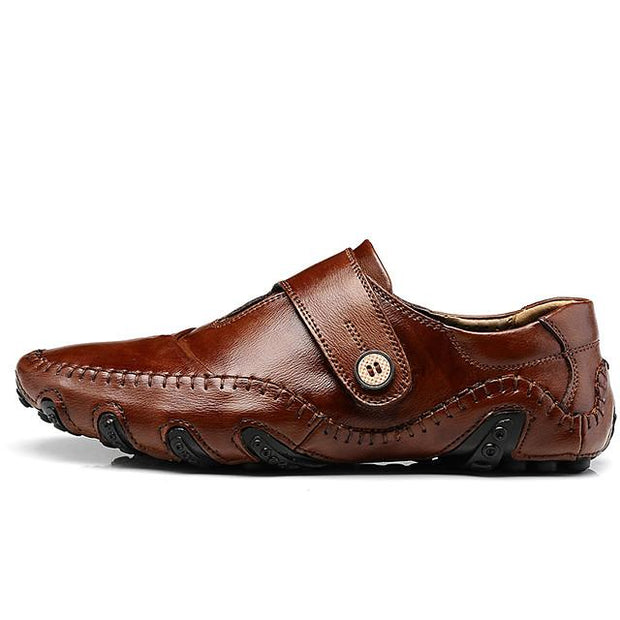 Men's Leather Shoes Cowhide Spring & Summer / Fall & Winter Casual / British Oxfords Breathable Black / Brown / Party & Evening / Party & Evening