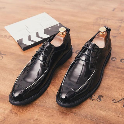 Men's Fall Business / British Daily Oxfords PU Breathable Non-slipping Black / Gold / Black / Silver