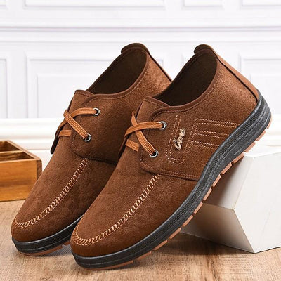 Men's Summer Outdoor Sneakers Cowhide Non-slipping Camel / Coffee