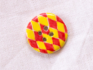 Medium Button: Red & Yellow