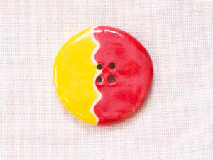 Large Button: Red & Yellow