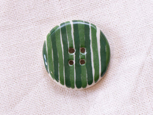 Medium Button: Green Stripes