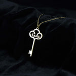 Anna Lily™ - Custom Name Key Pendant Necklace