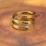 Custom Name Stunning Mother Daughter Rings