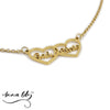 Anna Lily™ - Two Hearts Personalized Necklace