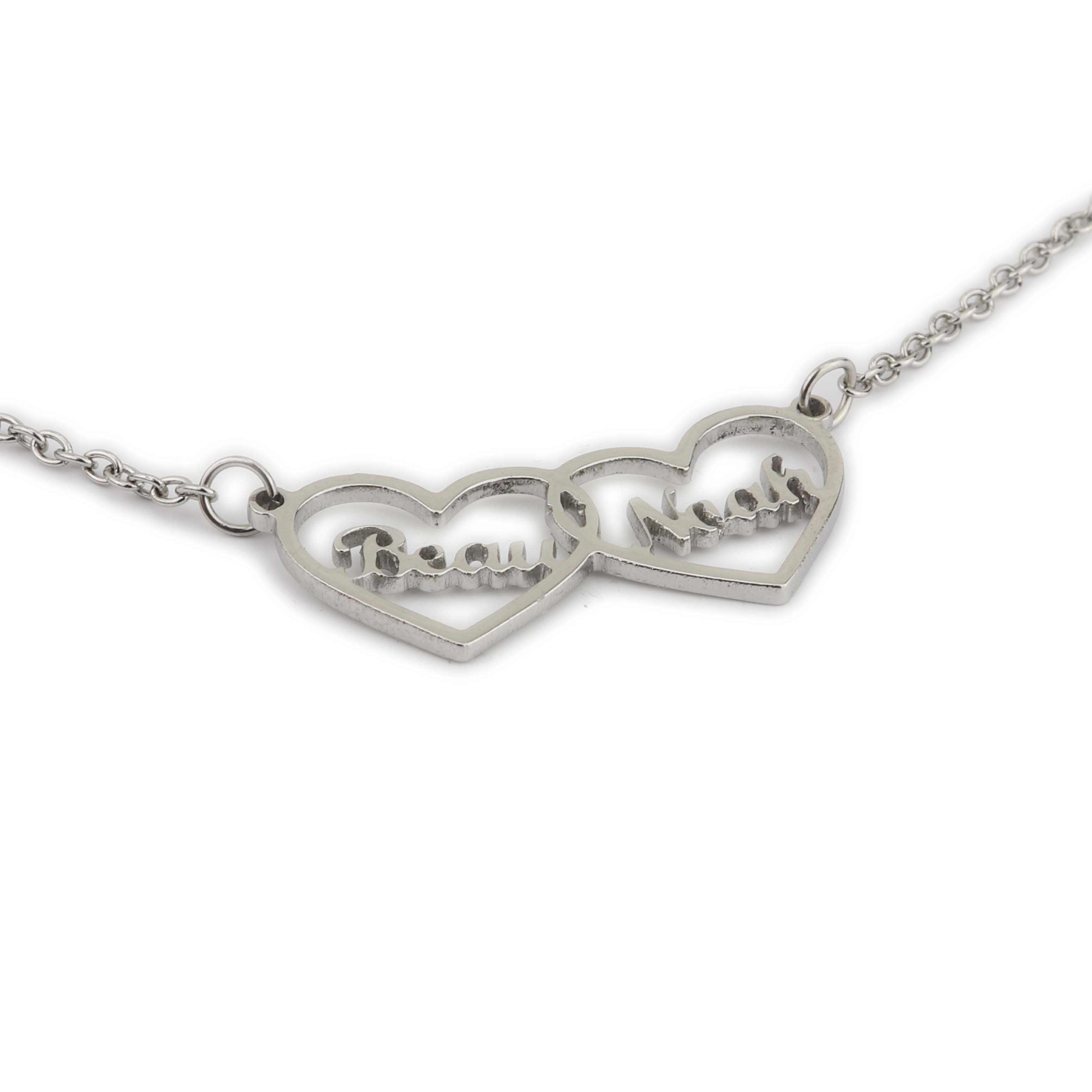 Two Hearts Personalized couple's necklace