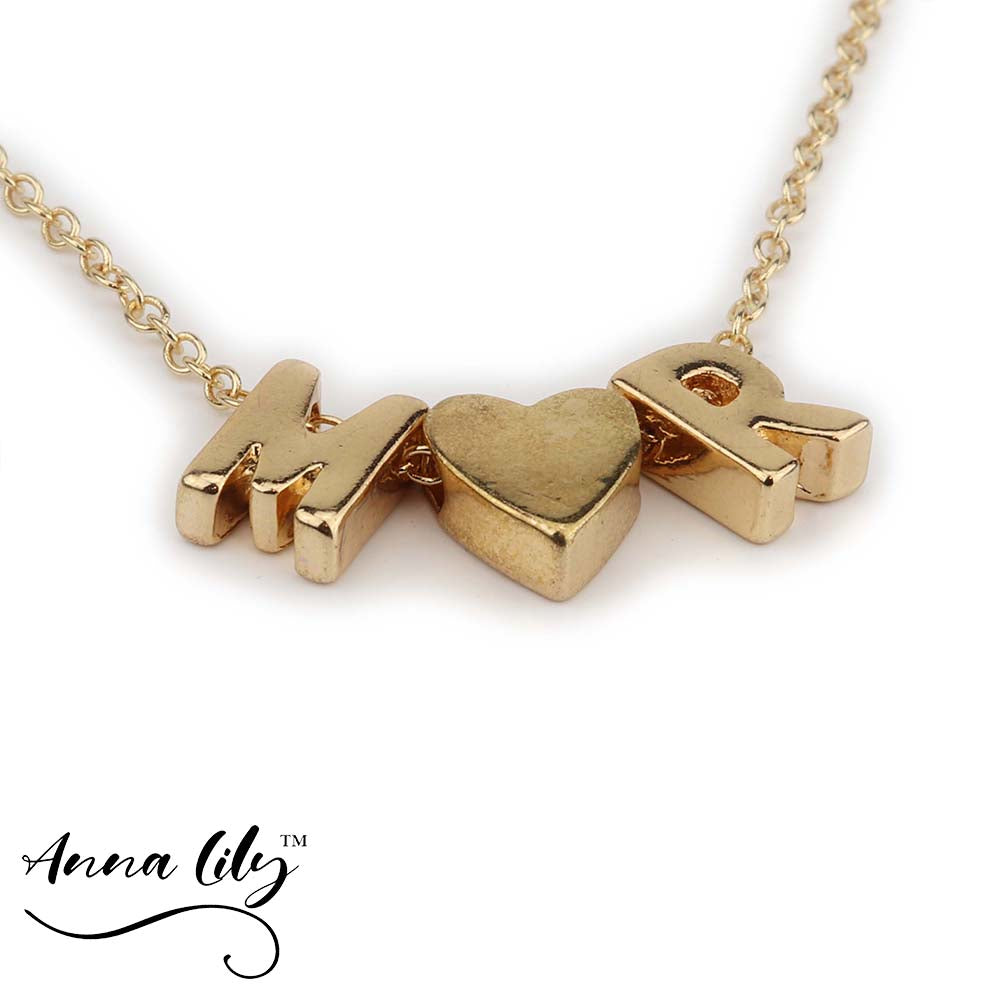 Anna Lily™ - Heart Initial Personalized Bracelet