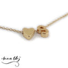 Anna Lily™ - Minimalist Heart Initial Necklace
