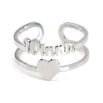 Personalized Name/Heart Ring