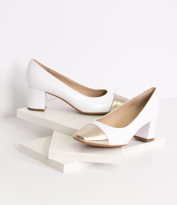 MAR BLANCO ORO Pump
