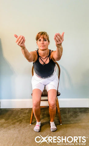 chair squat exercise from front Coreshorts