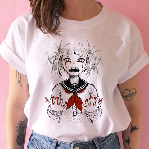 T shirt my hero academia femme Sang
