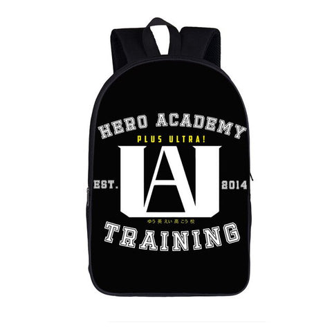 Cartable my hero academia noir