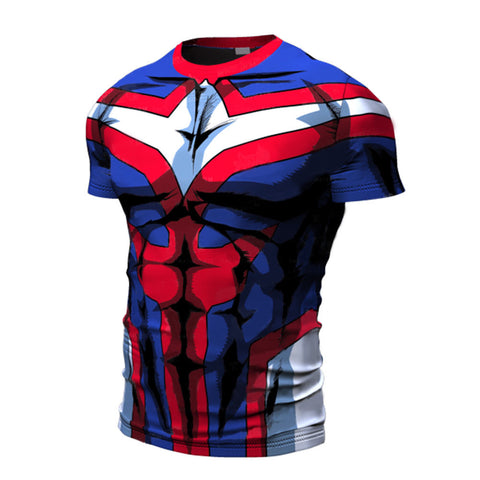 T-shirt compression manche courte All Might