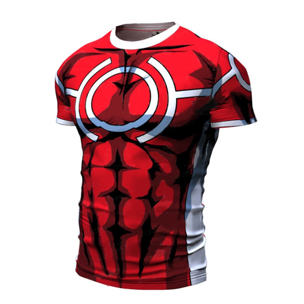 T-shirt compression manche courte All Might MHA