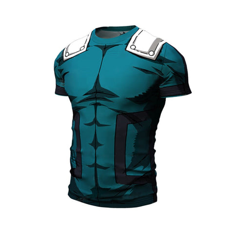 T-shirt compression manche courte Midoriya Izuku