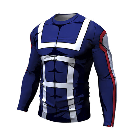 T-shirt compression my hero academia manche longue