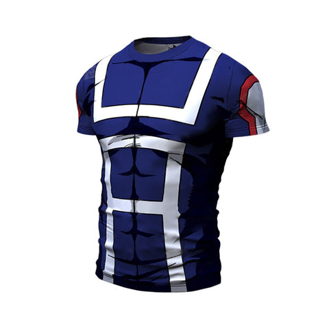 T-shirt compression my hero academia manche courte