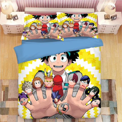 Housse de couette My Hero Academia izuku and co