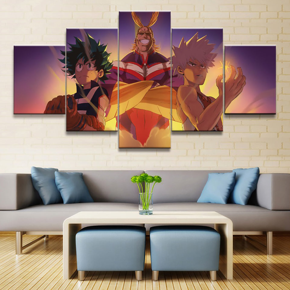 Tableau izuku all might et katsuki